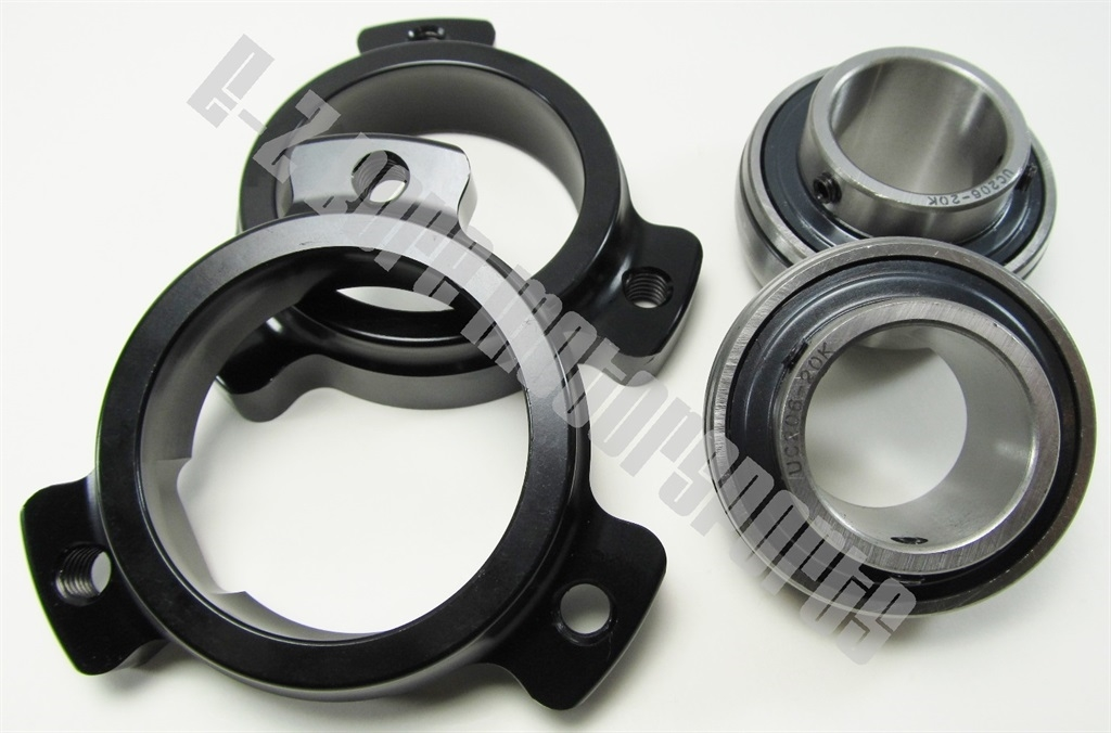 """Go Kart Cart 2 Sets Cassettes /& Bearings Fits 1.00/"""" Axle Std  3 Hole Mounting"""