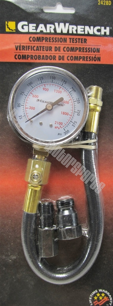 GearWrench 2428D Compression Tester 0-300 psi